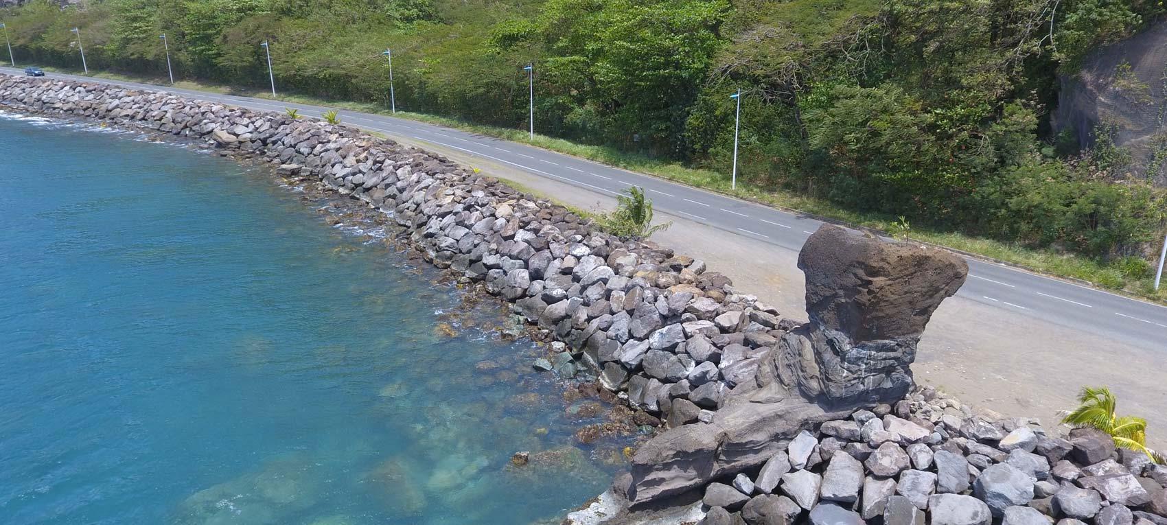 La route du littoral de Rivière Sens de nouveau ouverte à la circulation